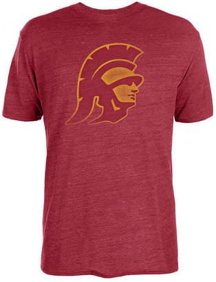Nike Authentic Ncaa Apparel Men's Usc Trojans Big Logo Triblend T-Shirt