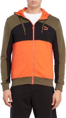 Puma Zip Front Hooded Sweatshirt