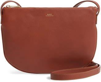 A.P.C. Sac Maelys Leather Crossbody Bag