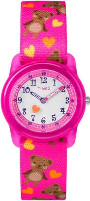 Timex Girls TW7C16600 Time Machines Elastic Fabric Strap Watch