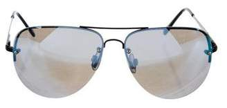 Quay Mirrored Aviator Sunglasses
