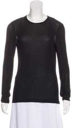 Calvin Klein Collection Crew Neck Long Sleeve Top