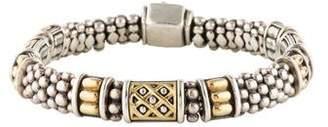 Lagos Two-Tone Caviar Bracelet