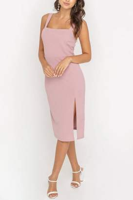 Lush Clothing Side-Slit Fitted Cocktail-Dress