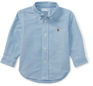 Ralph Lauren Childrenswear Oxford Chambray Shirt, Size 9-24 Months