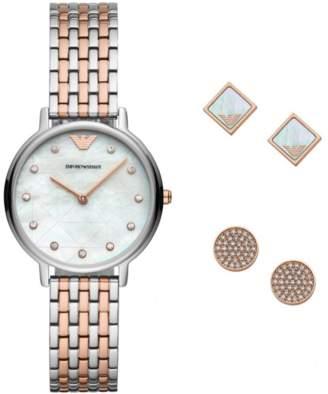 Emporio Armani Watch & Earring Ladies Gift Set