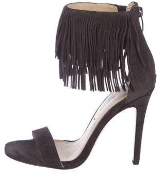 Via Spiga Fringe-Accented Suede Sandals w/ Tags