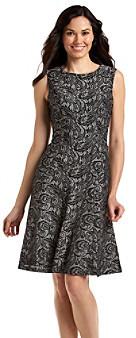 Anne Klein Lace Print Swing Dress