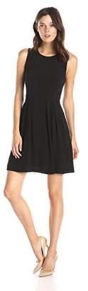 Lark & Ro Women's Sleeveless Crepe Fit and Flare Dress