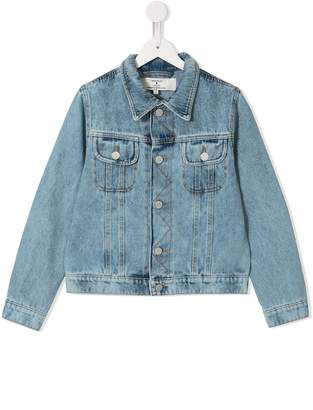 Natasha Zinko Kids tired to argue print denim jacket