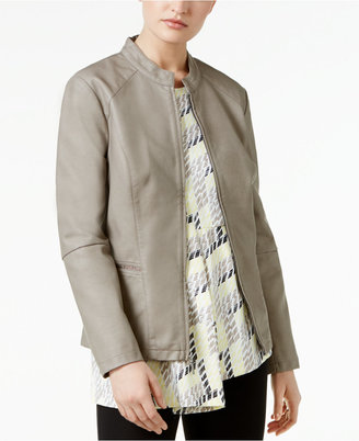 Alfani Faux-Leather Peplum Jacket, Only at Macy's $99.50 thestylecure.com