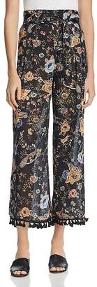 Molly Bracken Tasseled Floral-Print Pants