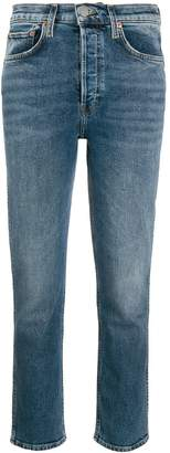 RE/DONE mid rise slim fit jeans