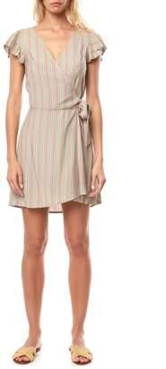 O'Neill Maurie Stripe Wrap Minidress