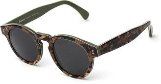 Illesteva Leonard Marbled Sunglasses, Savana $177 thestylecure.com