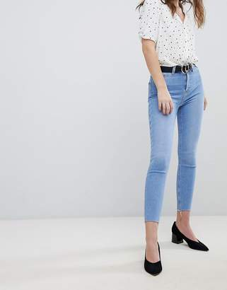 New Look Super Skinny High Rise Frayed Hem Jean