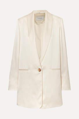 La Collection - Amandine Oversized Silk-satin Blazer - White