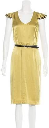 Valentino Belted Silk Dress w/ Tags