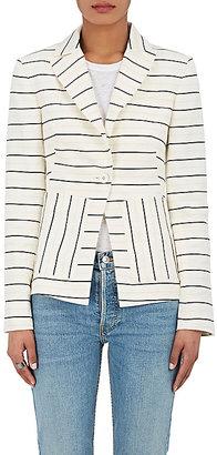 Derek Lam 10 Crosby Women's Striped Linen-Blend Blazer $595 thestylecure.com