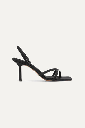 Neous Spatulata Faille Slingback Sandals - Black