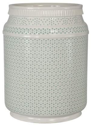 Creative Bath Nomad Boho Ceramic Basket - Aqua