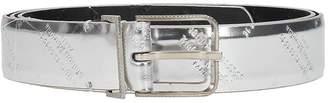 Maison Margiela Silver Laminated Leather Belt