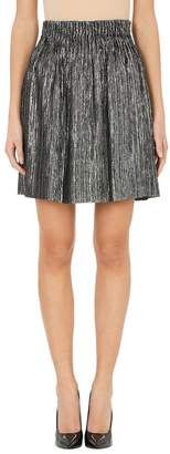 Isabel Marant Metallic Delphi Silver Mini Skirt