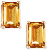 Suzanne Kalan KALAN by 14k Rose Gold Emerald-Cut Stud Earrings