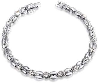 AERLIS Newest Trendy Women Holiday gifts White Gold Bracelet Bangle For Ladies Girls Bridal Gift Party Jewelry
