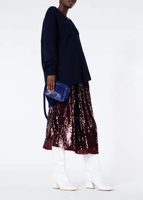 Tibi Sequined Double Waist Full Skirt