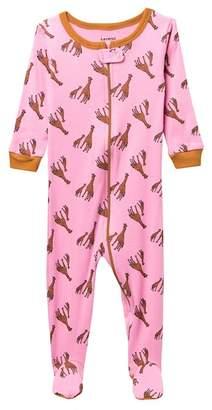 Leveret Girfaffe Footed Pajama Sleeper (Baby Girls)