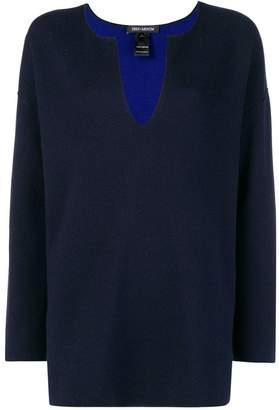 Iris von Arnim split neck sweater