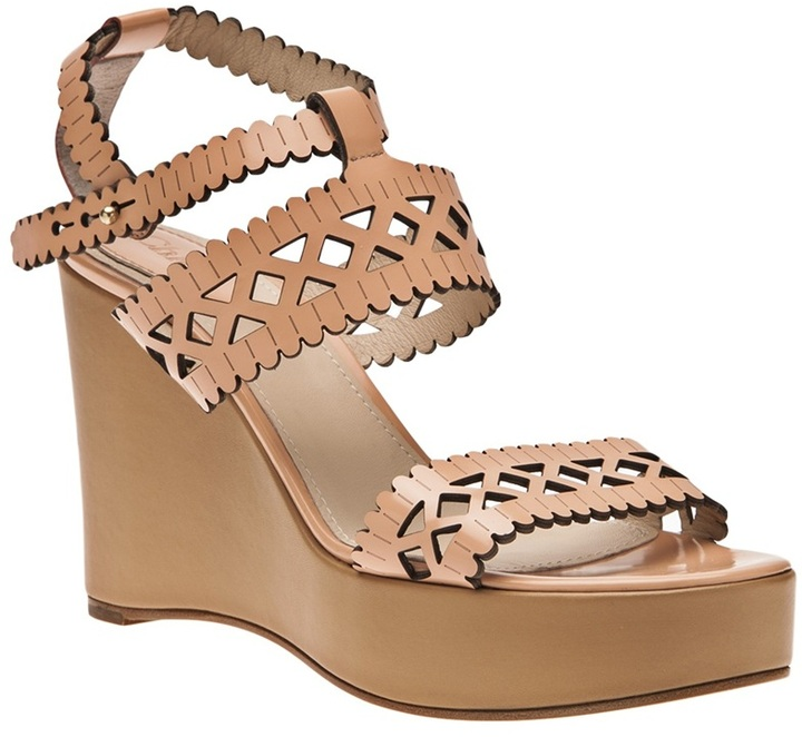 Chloé Laser cut wedge