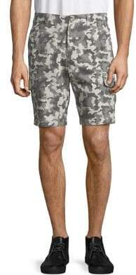 Black & Brown Black Brown Camo-Print Cotton Shorts