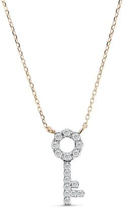 Cosanuova Key Necklace In 14k Rose Gold