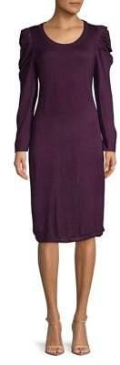 Calvin Klein Puffed Shoulder Sheath Dress