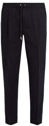 Moncler Mid Rise Cotton Blend Track Pants - Mens - Navy