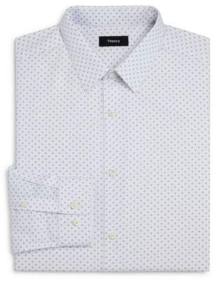 Theory Circle Print Slim Fit Dress Shirt