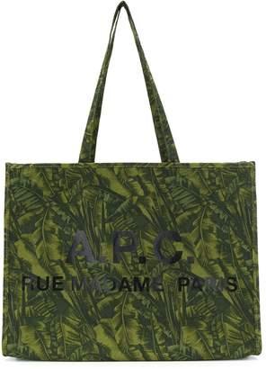 A.P.C. printed logo tote bag