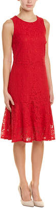 Allen B. Abs By Schwartz Abs Collection Floral Lace A-Line Dress