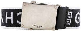 Givenchy Plate Buckle Belt in Black & White | FWRD