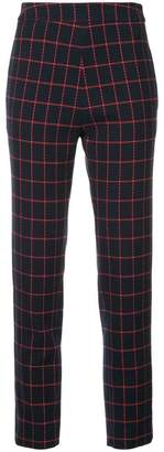 Macgraw cropped check trousers