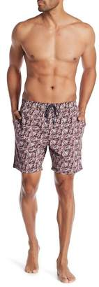 7 Diamonds Drawstring Printed Shorts