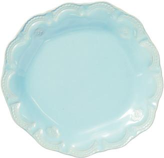 Vietri Incanto Stone Lace Salad Plate, Aqua