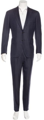 Brioni Brioni Brunico Wool Striped Suit