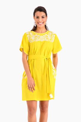 Pink City Prints Mexican Short Dress