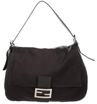 Fendi Leather-Trimmed Mamma Forever Bag