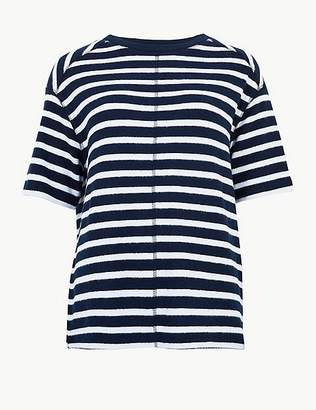 Marks and Spencer Striped Half Sleeve T-Shirt