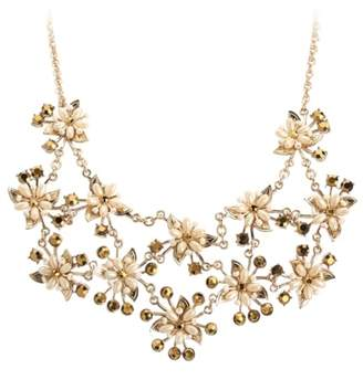 Miriam Haskell Flower Bib Necklace