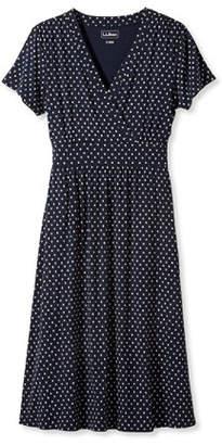 L.L. Bean (エルエルビーン) - サマー・ニット・ドレス、半袖 ビーチ・ペブル・プリント